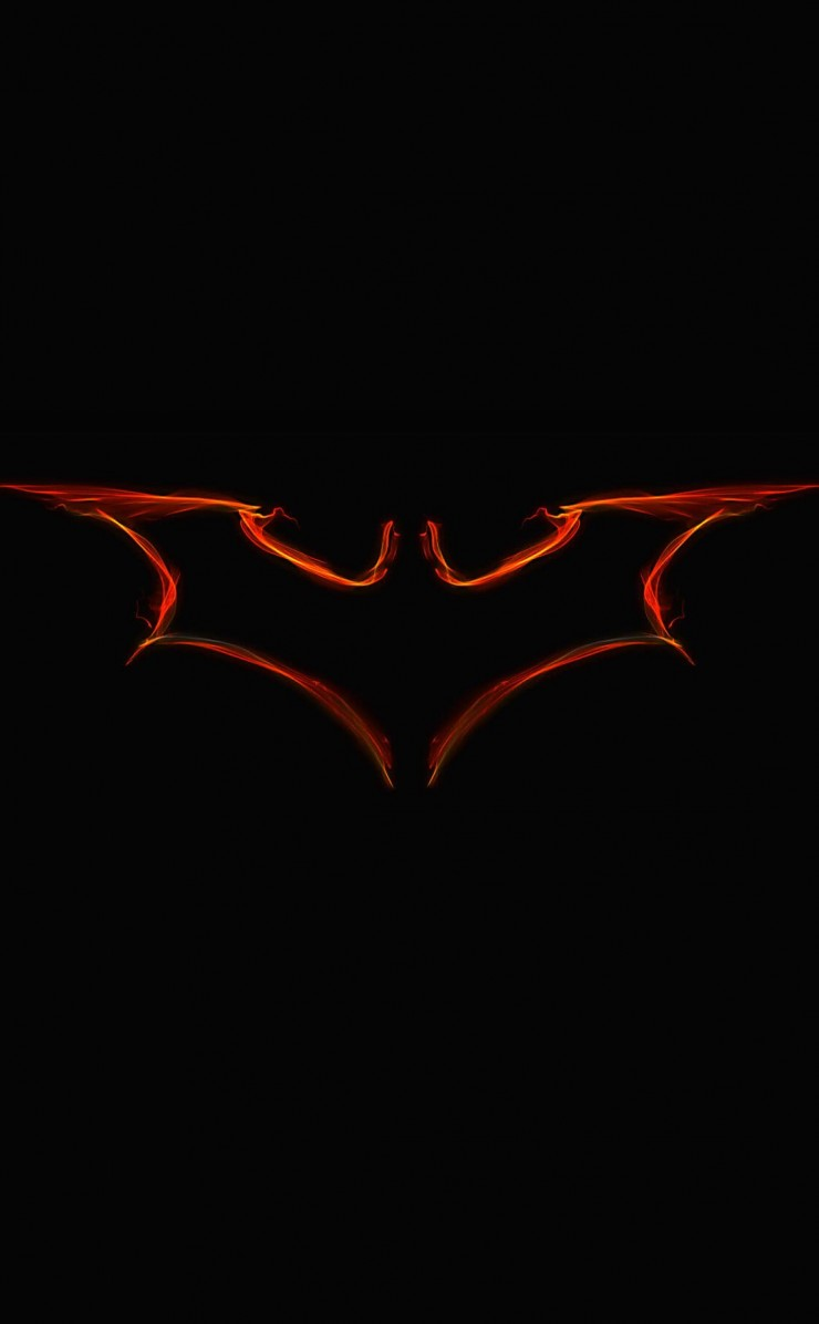 Batman Light Painting Logo Wallpaper for Apple iPhone 4 / 4s