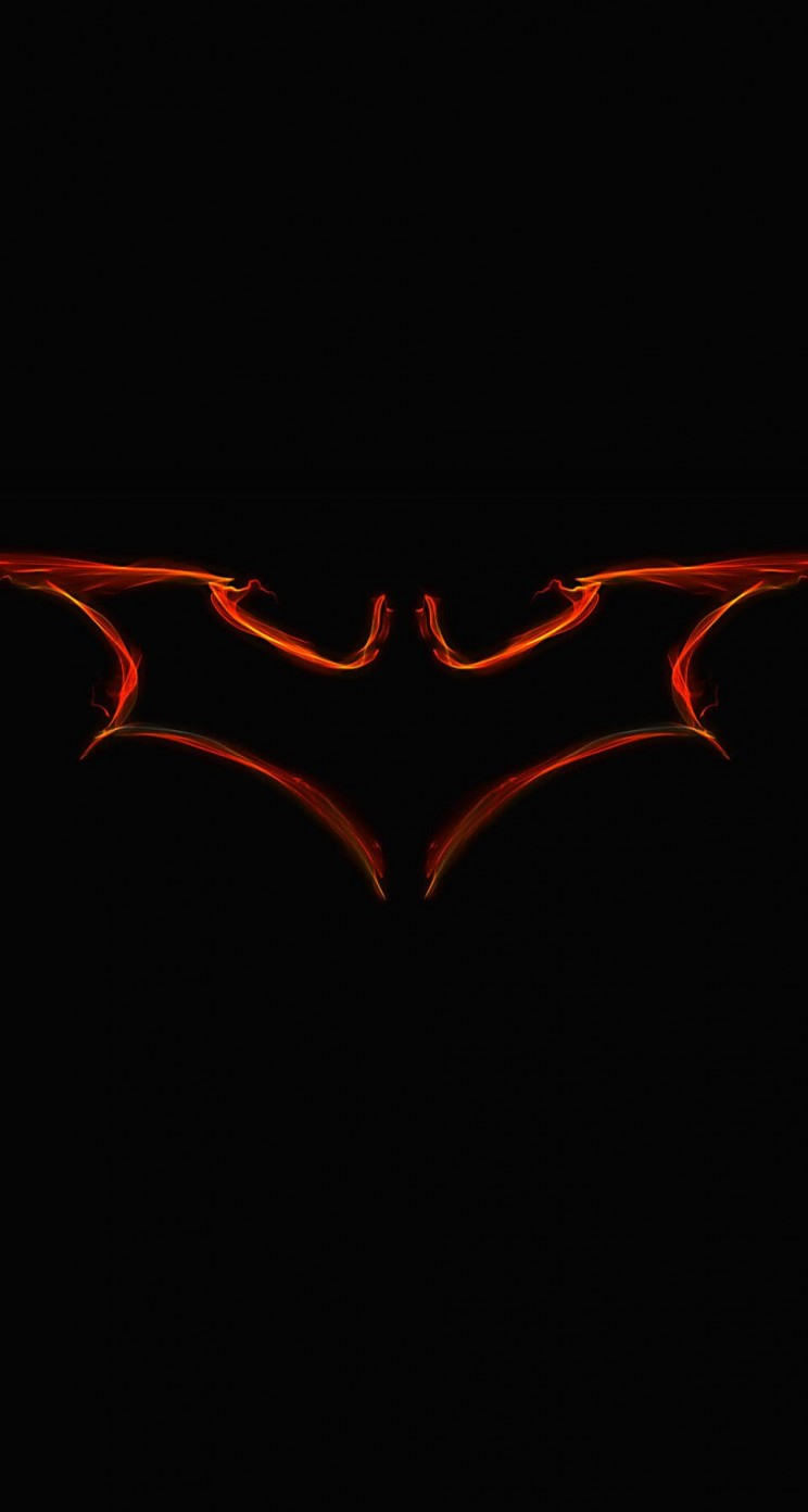 Batman Light Painting Logo Wallpaper for Apple iPhone 5 / 5s