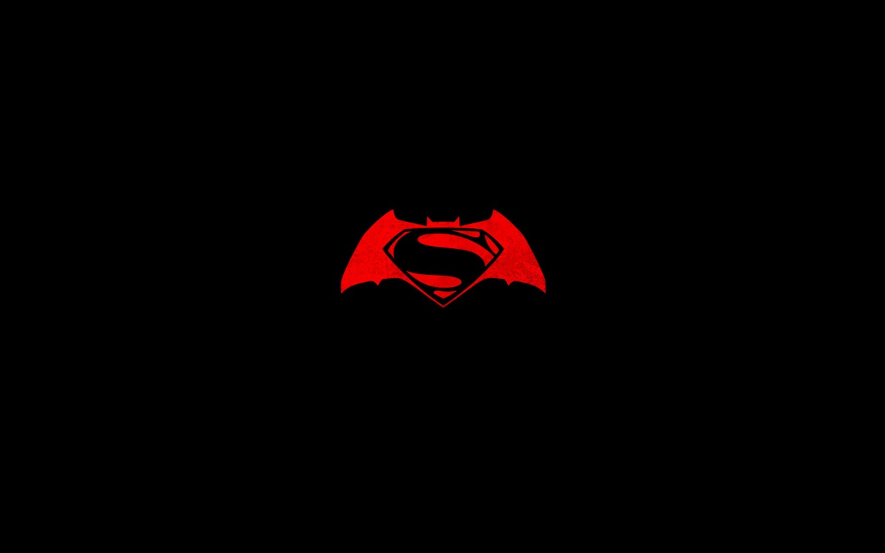 Batman v Superman logo Wallpaper for Desktop 1280x800