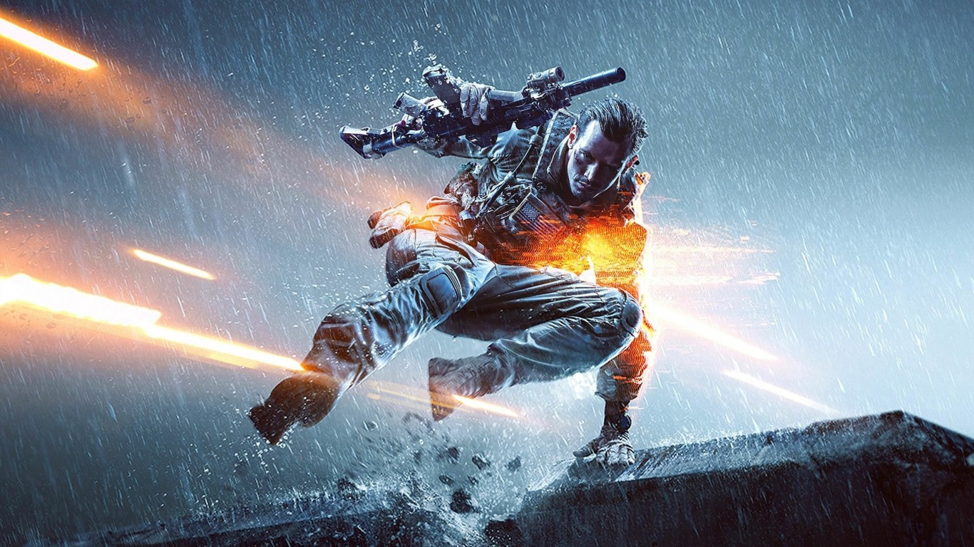 Battlefield Soldier Wallpaper for Desktop 1366x768