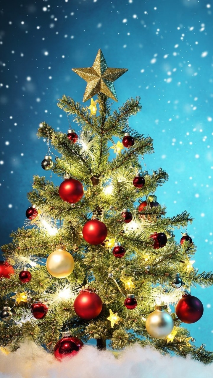 Beautiful Christmas Tree Wallpaper for Lenovo A6000