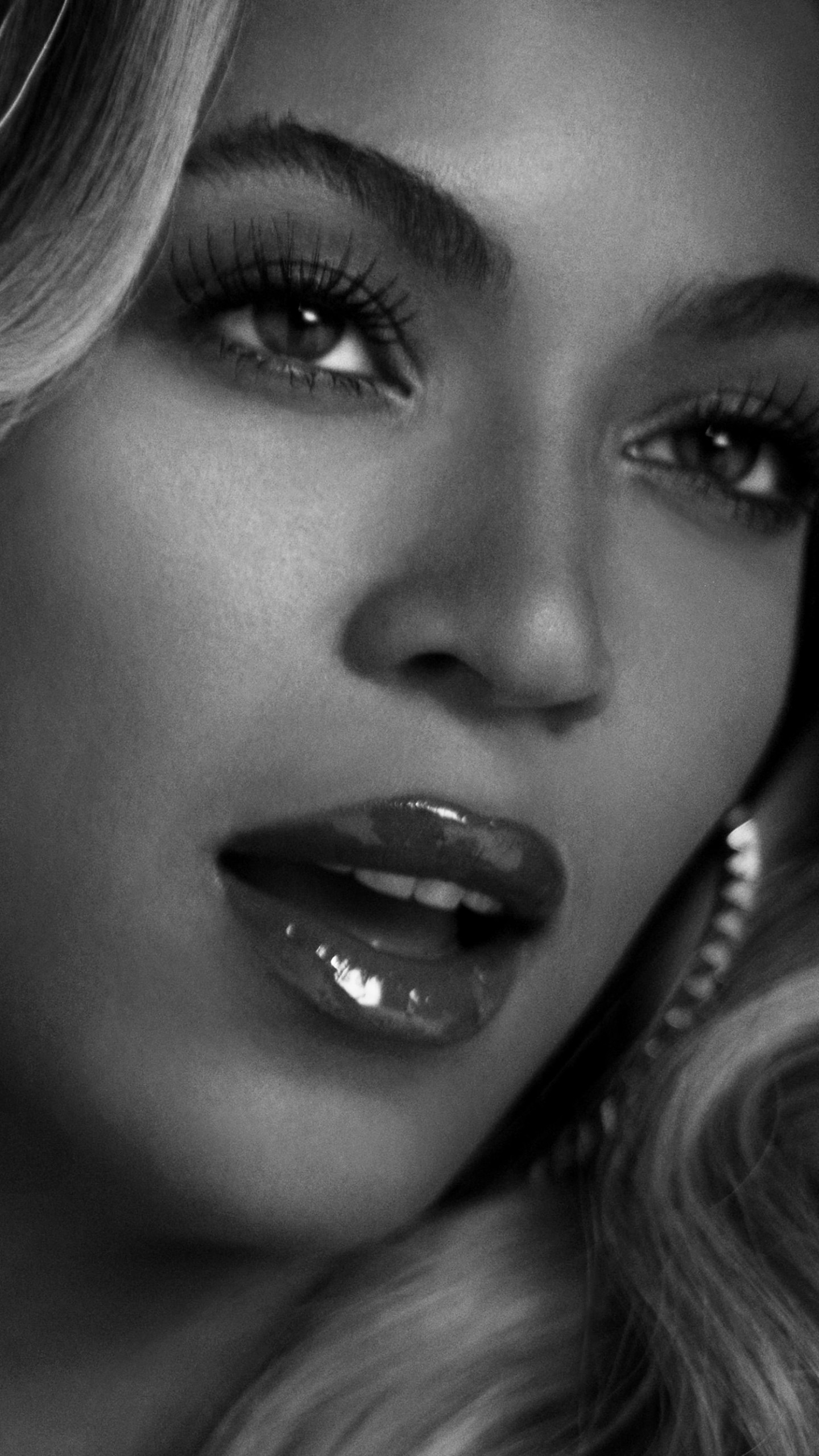 Beyonce in Black & White Wallpaper for SAMSUNG Galaxy Note 4