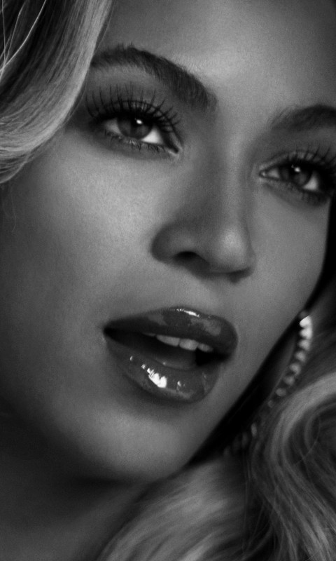 Beyonce in Black & White Wallpaper for SAMSUNG Galaxy S3 Mini