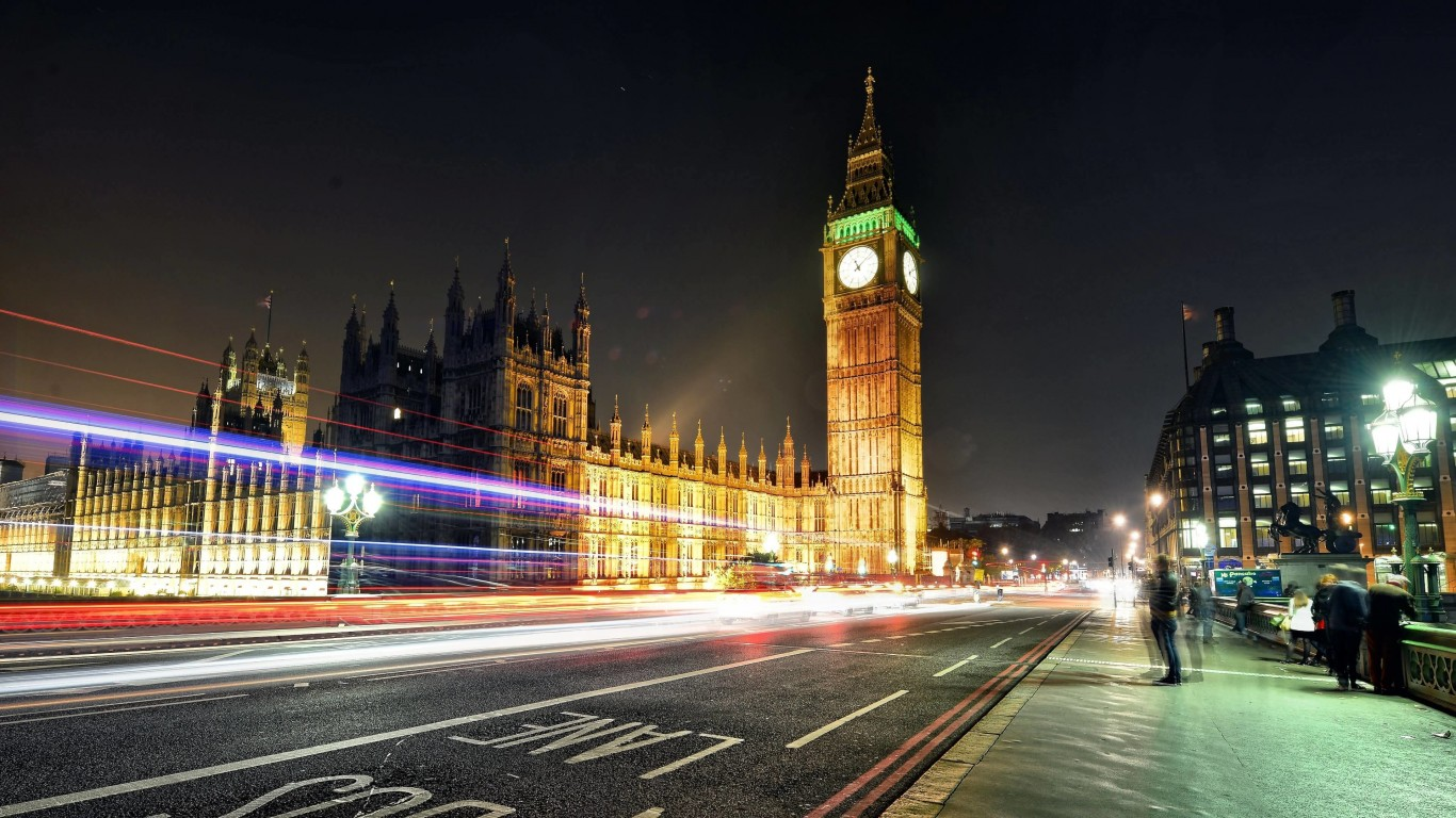 Big Ben at Night Wallpaper for Desktop 1366x768