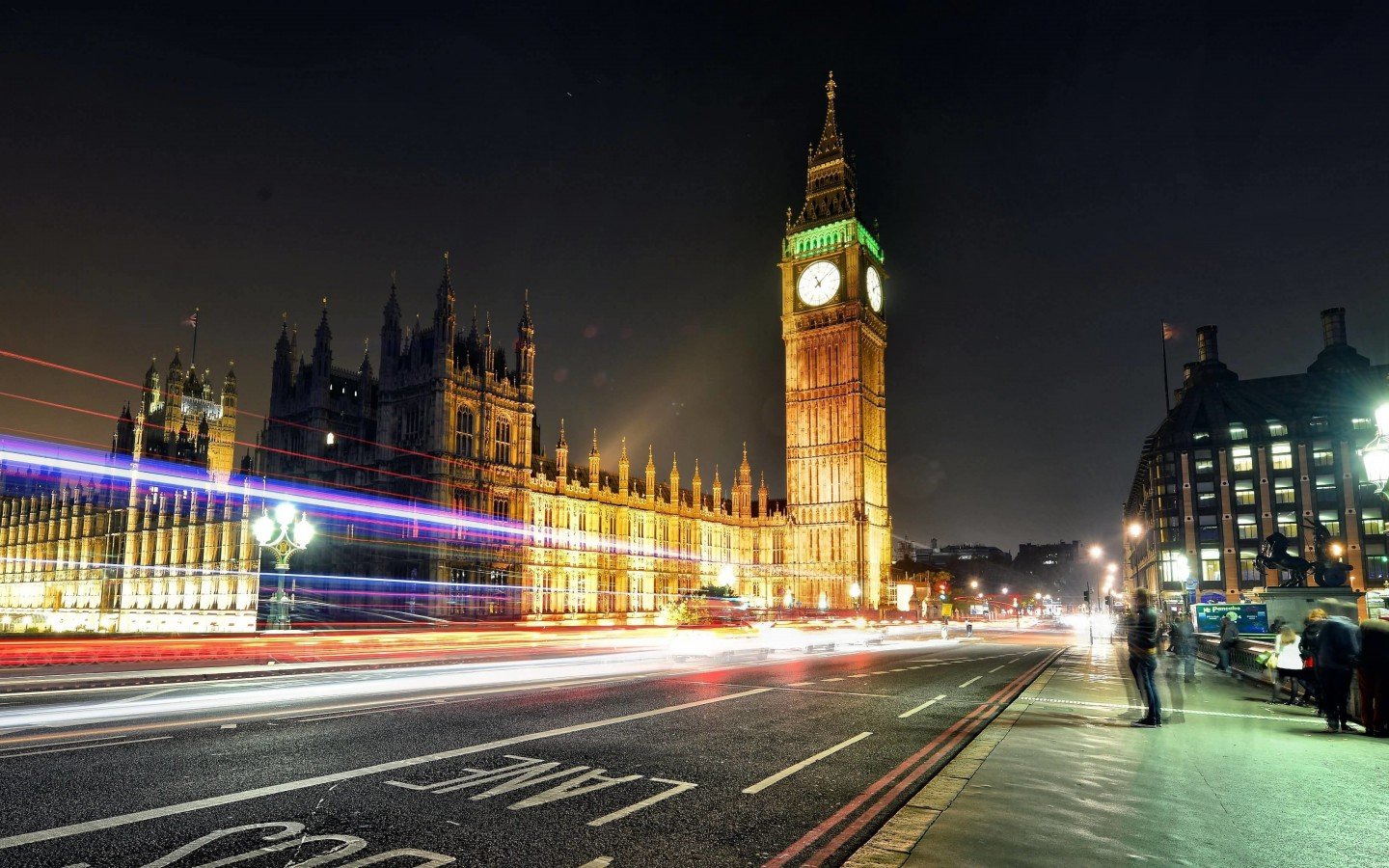 Big Ben at Night Wallpaper for Desktop 1440x900