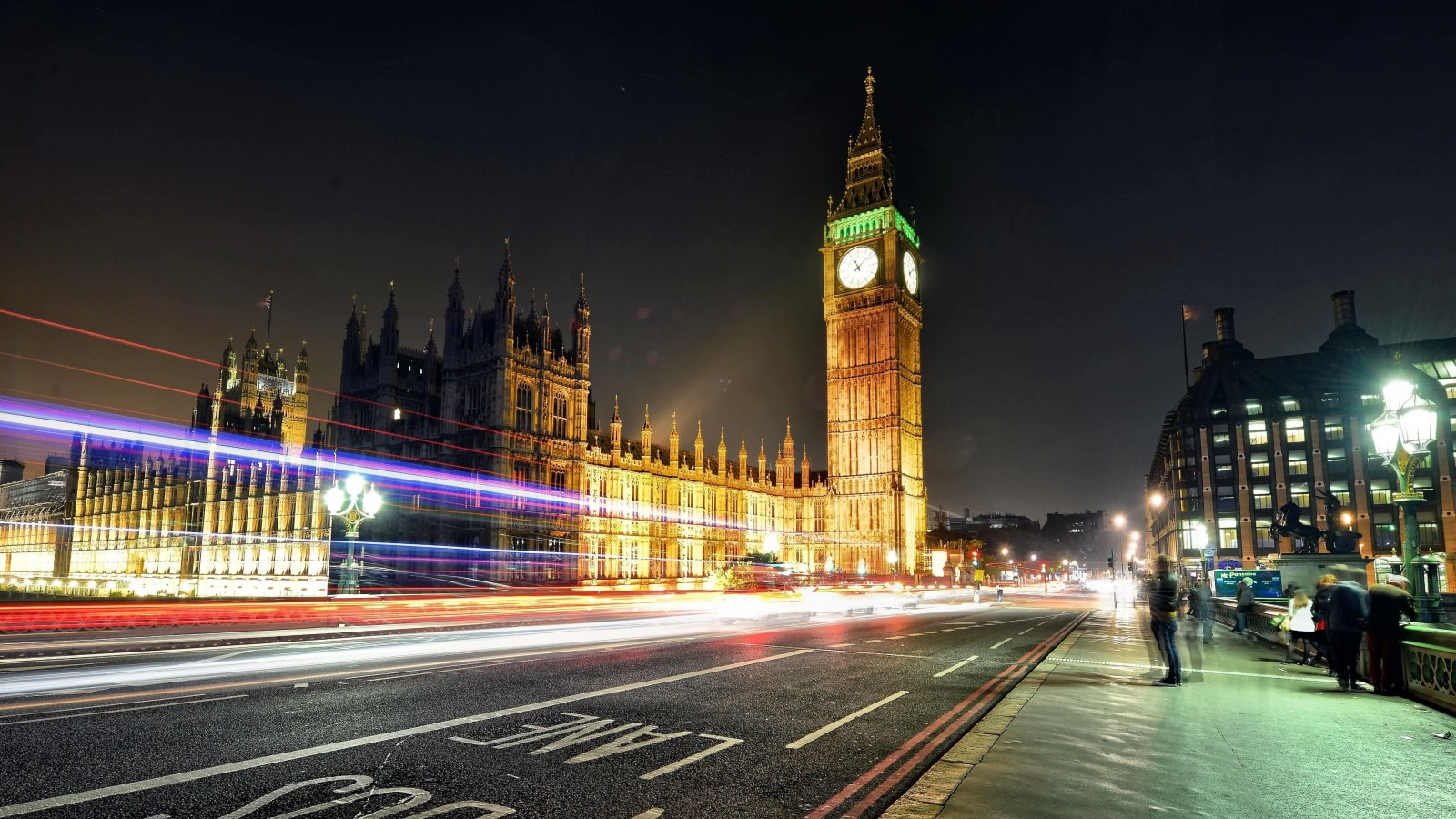 Big Ben at Night Wallpaper for Desktop 1600x900
