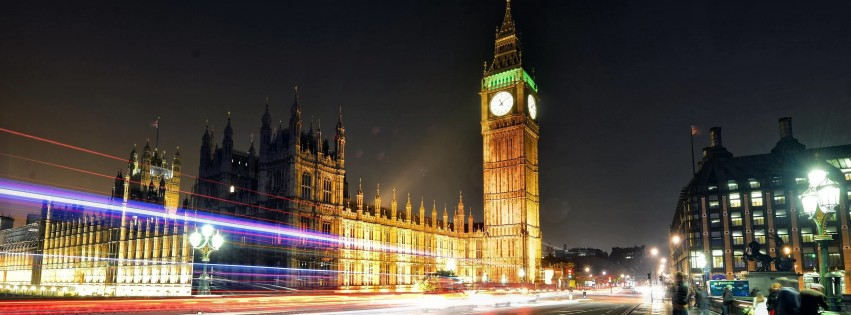 Big Ben at Night Wallpaper for Social Media Facebook Cover