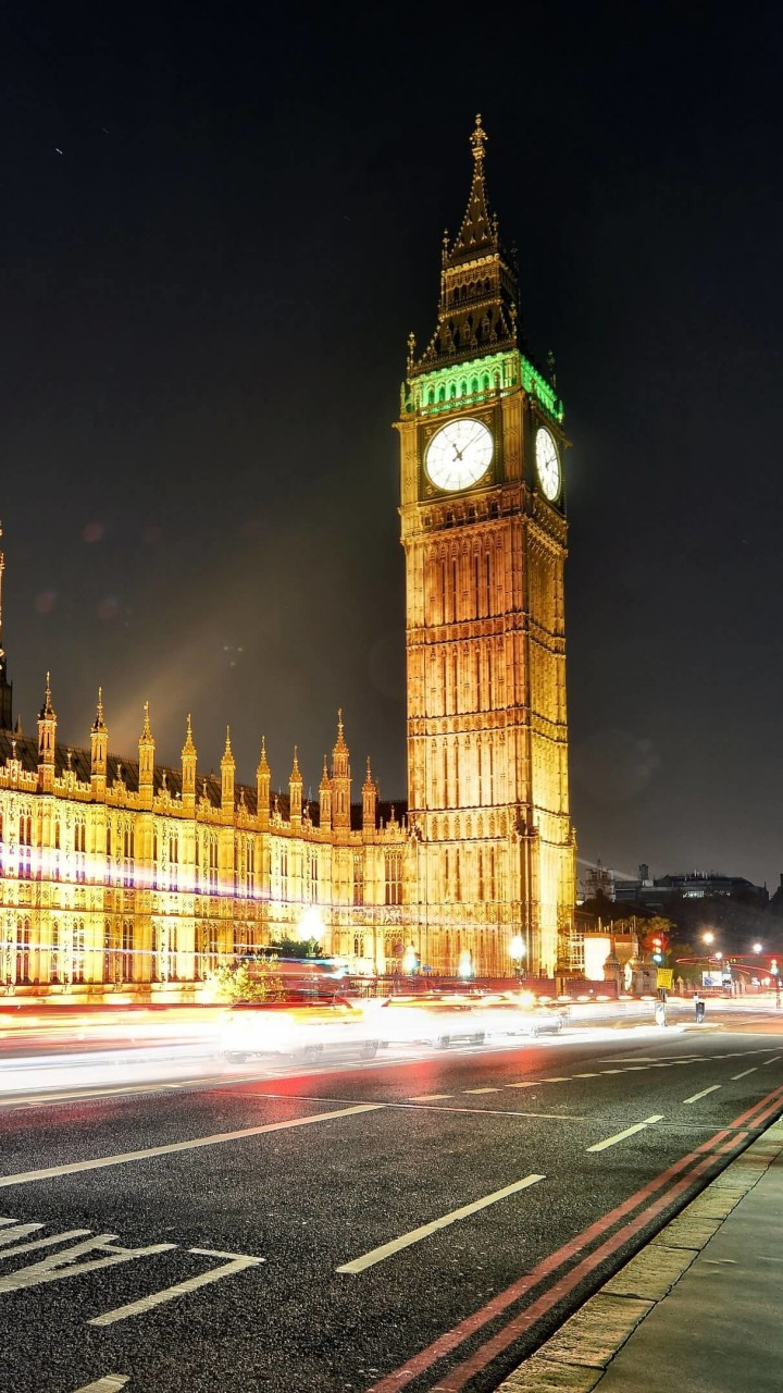 Big Ben at Night Wallpaper for SAMSUNG Galaxy Note 2