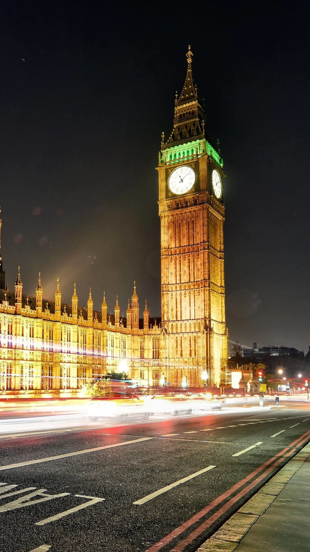 Big Ben at Night Wallpaper for SAMSUNG Galaxy S4