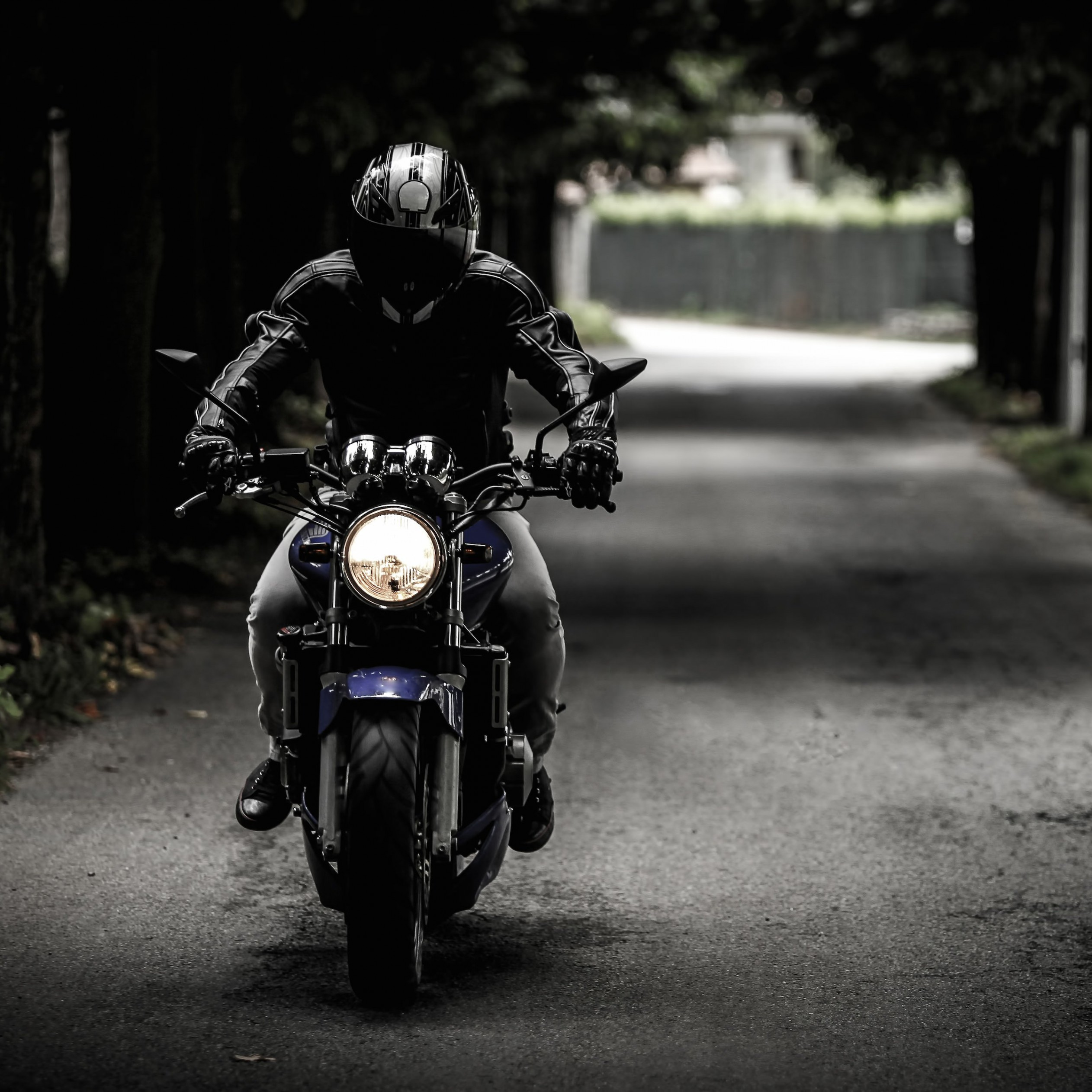 Bike Rider Wallpaper for Apple iPad 4