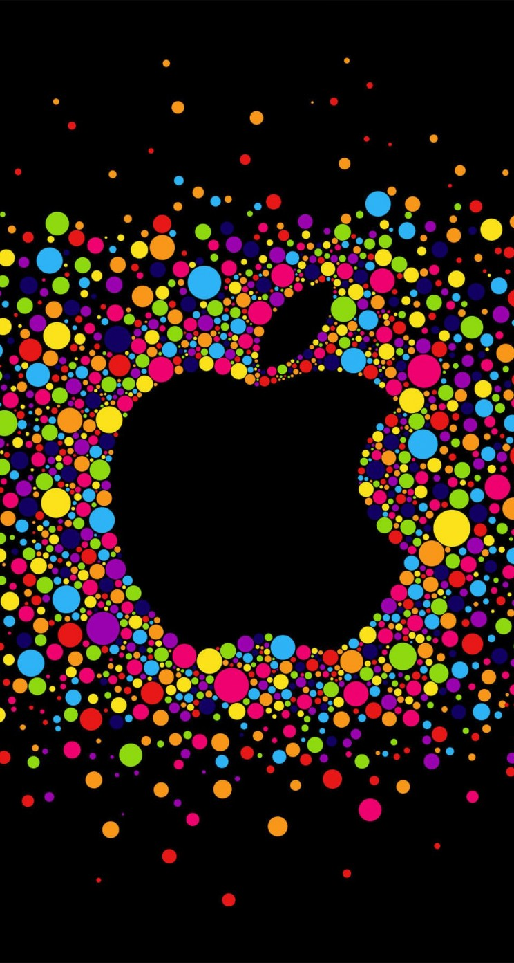 Black Apple Logo Particles Wallpaper for Apple iPhone 5 / 5s