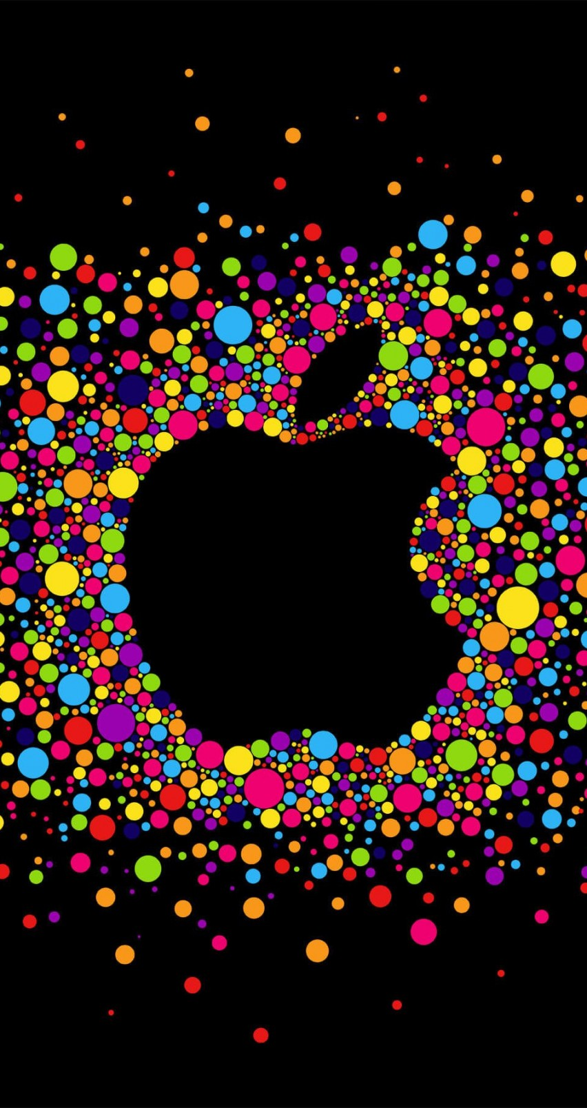 Black Apple Logo Particles Wallpaper for Apple iPhone 6 / 6s