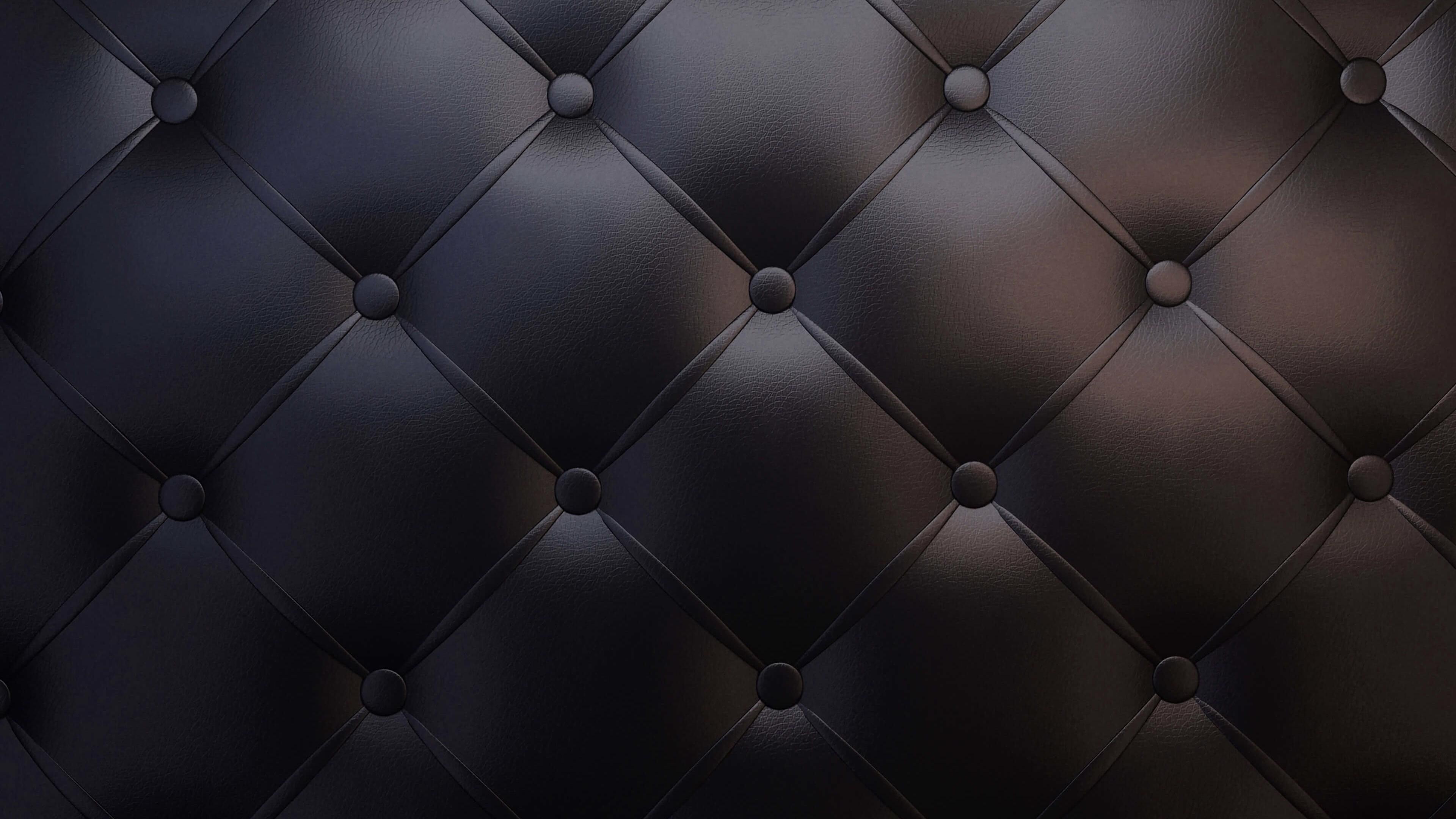 Black Leather Vintage Sofa Wallpaper for Desktop 4K 3840 x 2160
