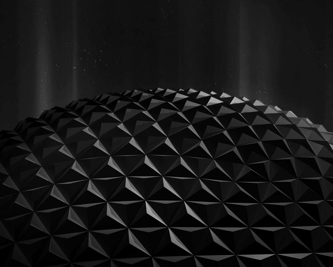 Download Black Polygon Planet HD Wallpaper For 1280 X 1024