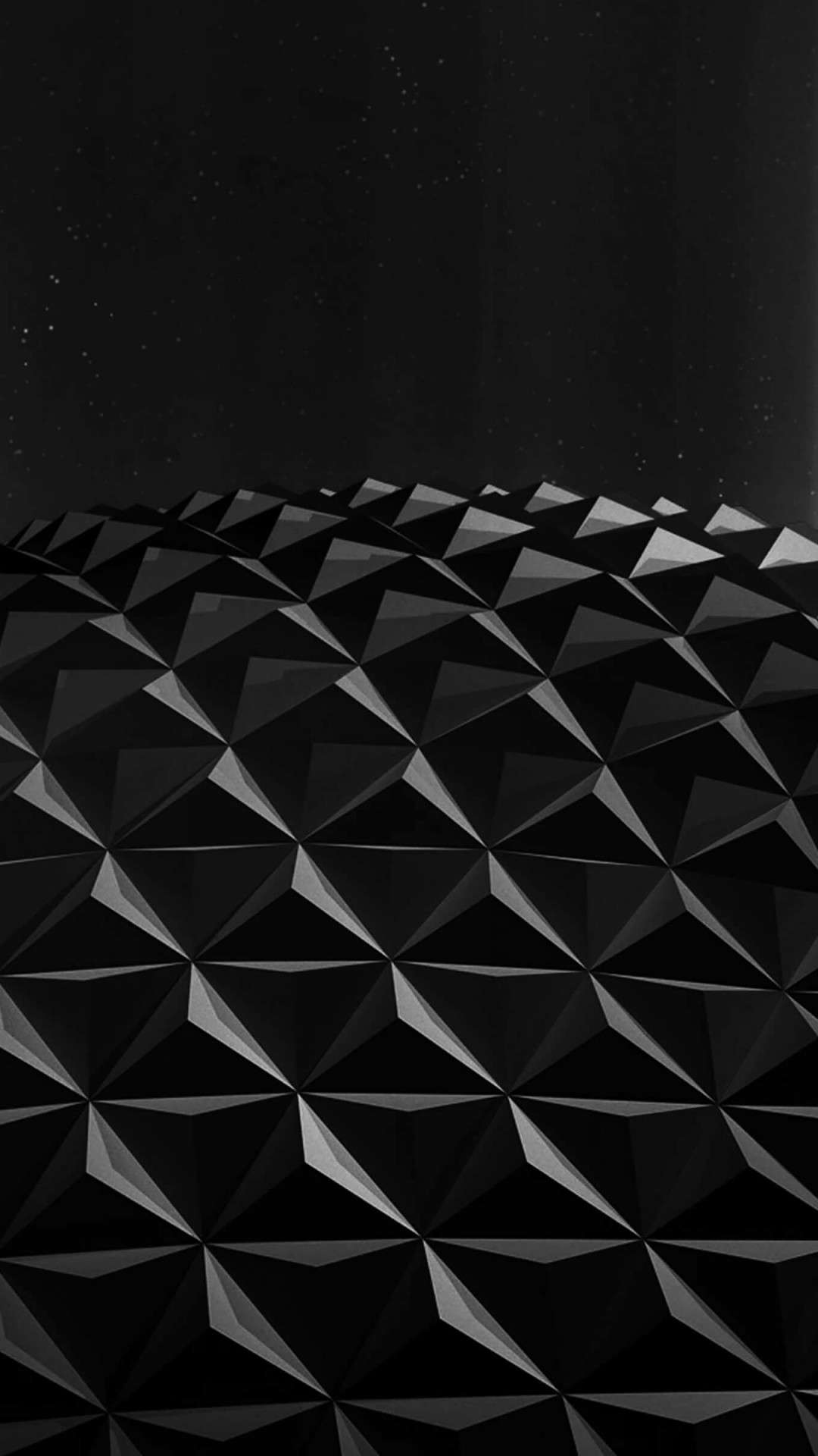 Black Polygon Planet Wallpaper for SAMSUNG Galaxy S4