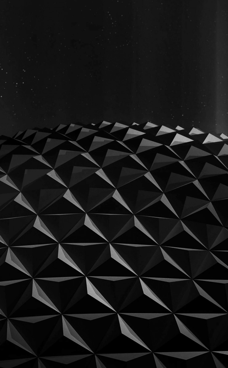 Black Polygon Planet Wallpaper for Apple iPhone 4 / 4s