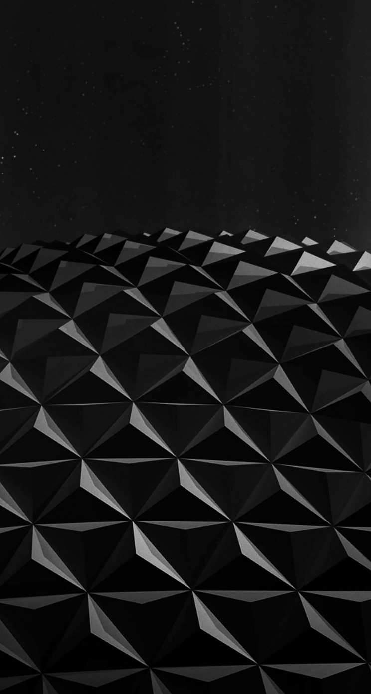 Black Polygon Planet Wallpaper for Apple iPhone 5 / 5s