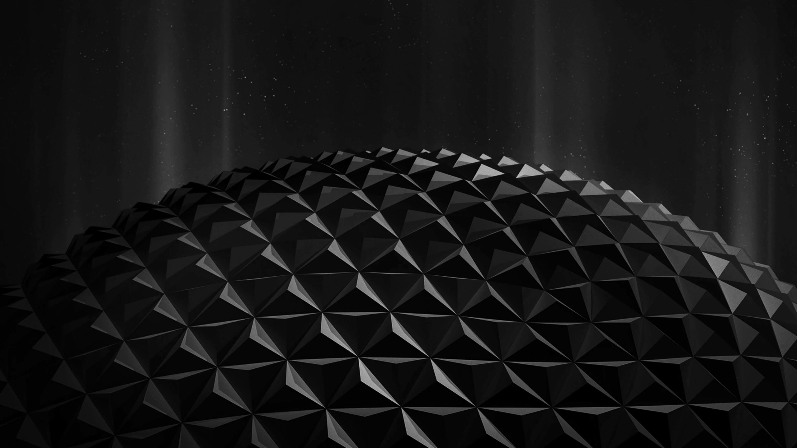Black Polygon Planet Wallpaper for Social Media YouTube Channel Art