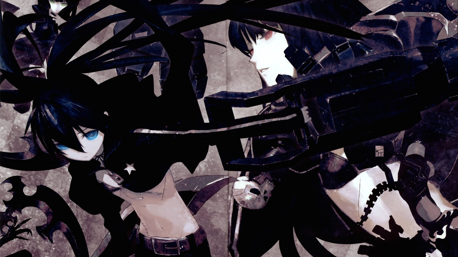 Black Rock Shooter Wallpaper for Desktop 1600x900