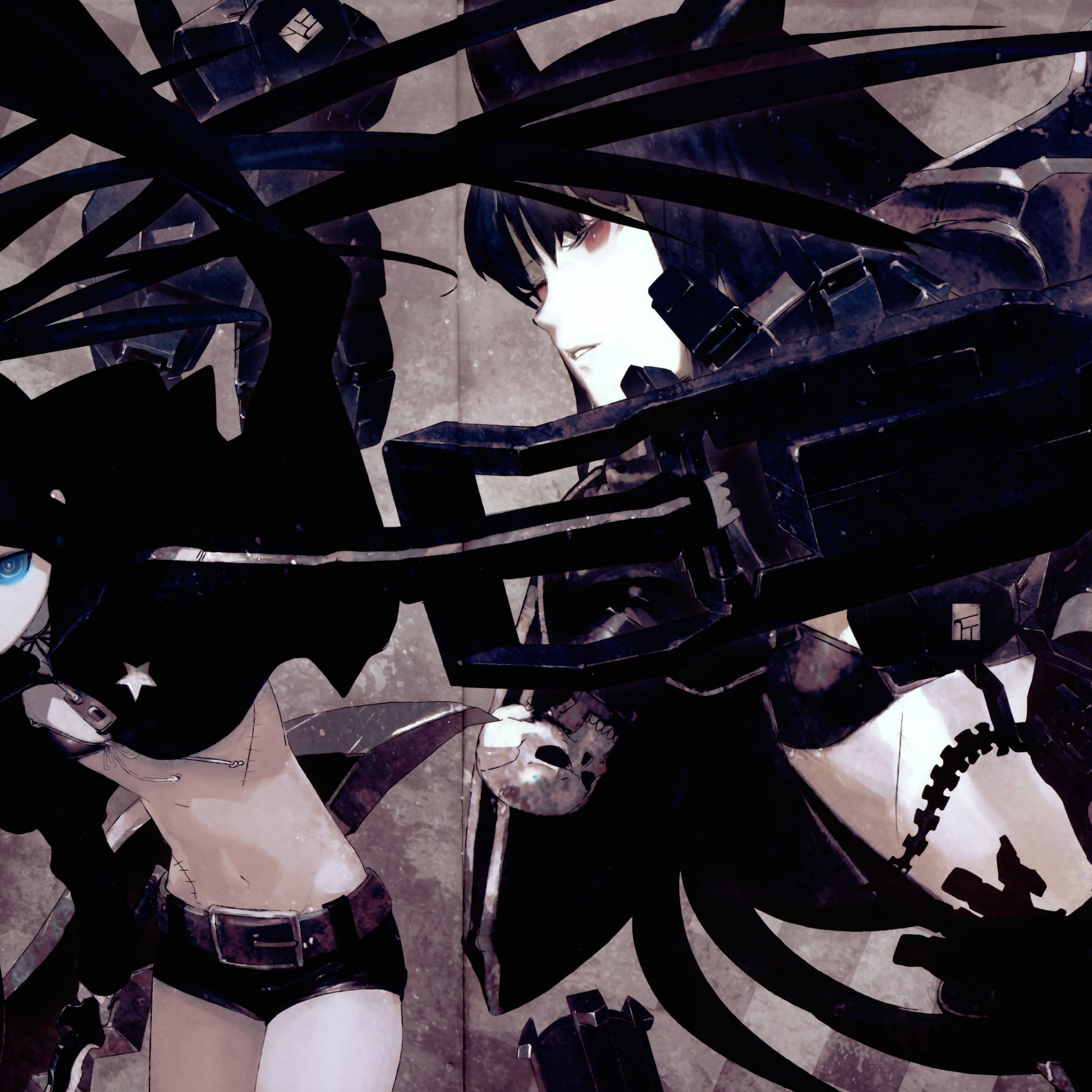 Black Rock Shooter Wallpaper for Apple iPad 4
