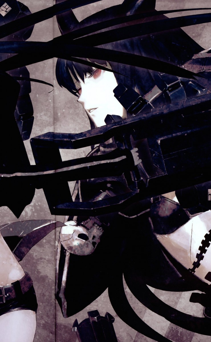 Black Rock Shooter Wallpaper for Apple iPhone 4 / 4s