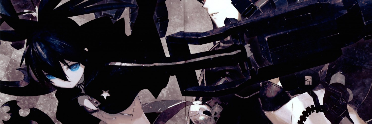 Black Rock Shooter Wallpaper for Social Media Twitter Header