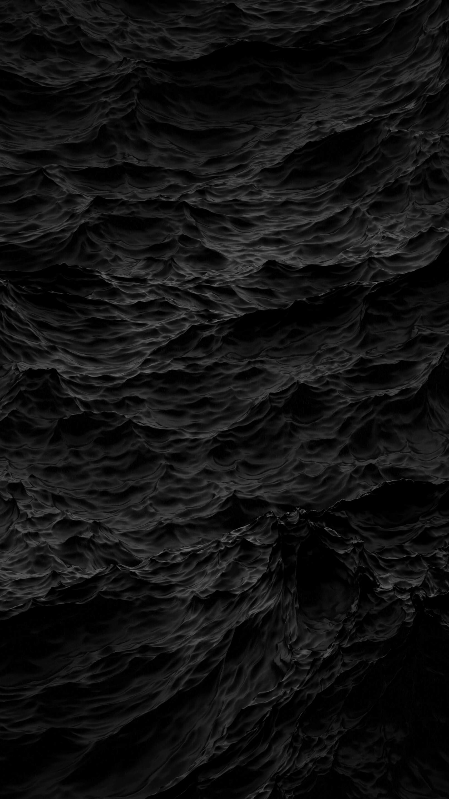 Black Waves Wallpaper for Google Nexus 6P