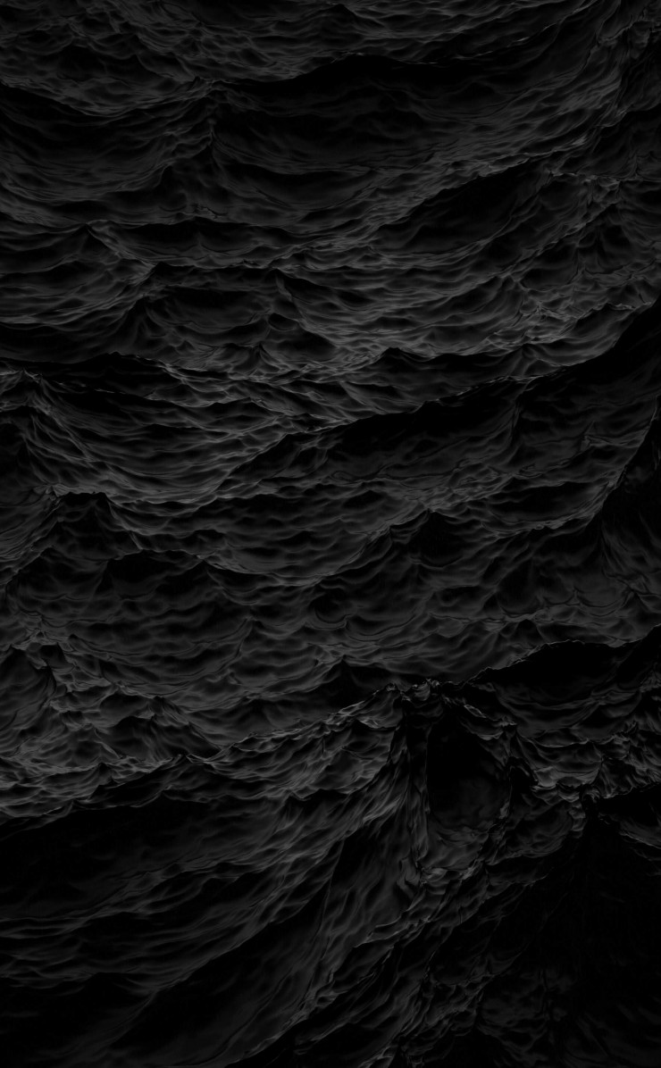 Black Waves Wallpaper for Apple iPhone 4 / 4s