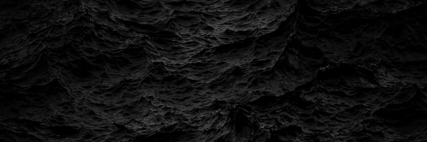 Black Waves Wallpaper for Social Media Twitter Header