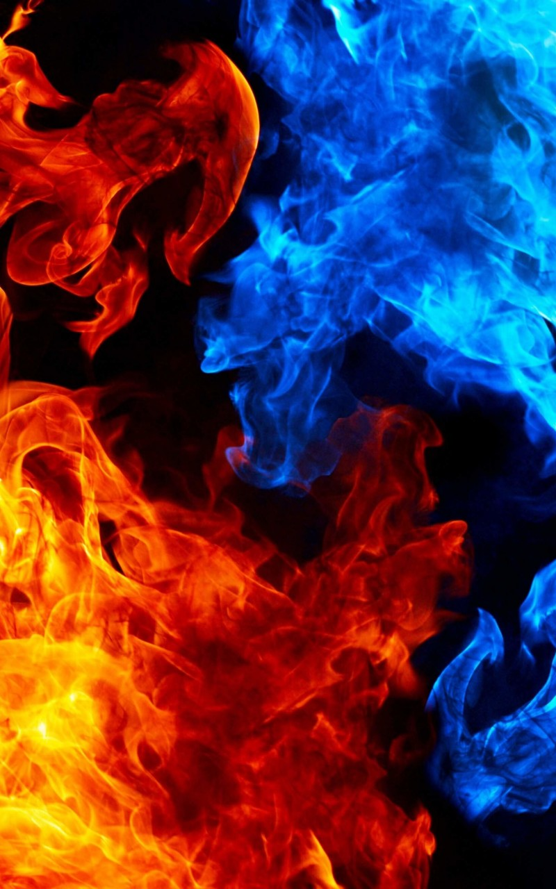 Blue And Red Fire Wallpaper for Amazon Kindle Fire HD