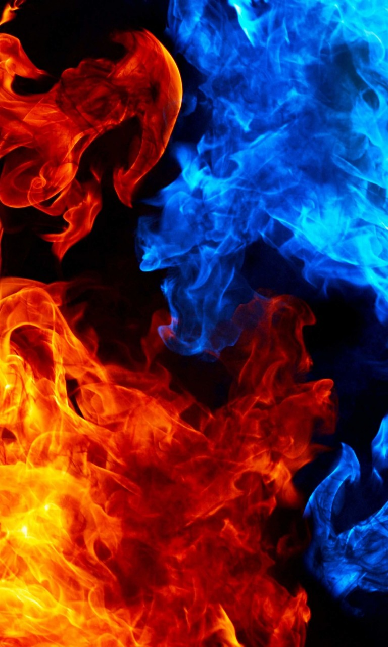 Blue And Red Fire Wallpaper for LG Optimus G