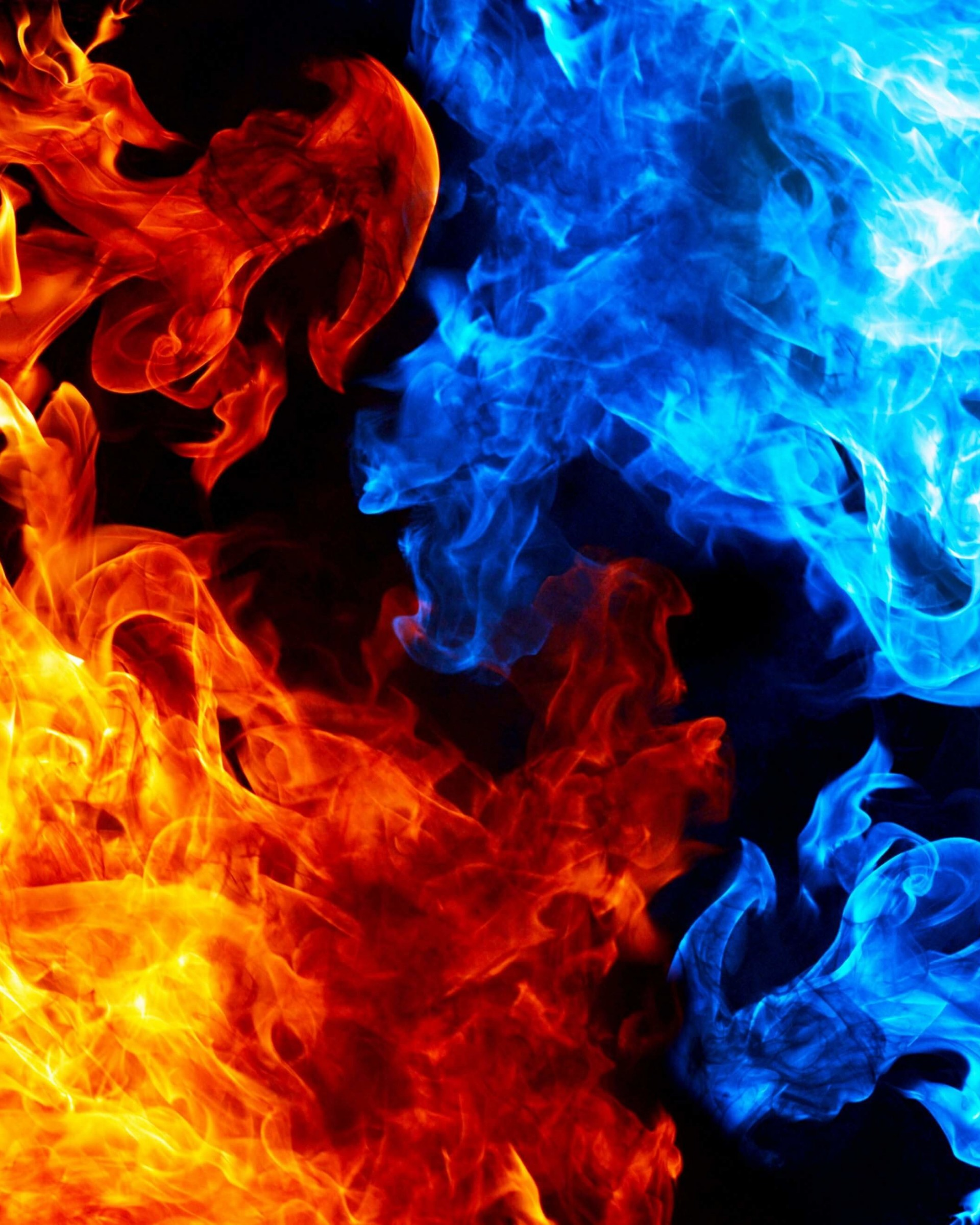 Download Blue And Red Fire HD Wallpaper For Nexus 7