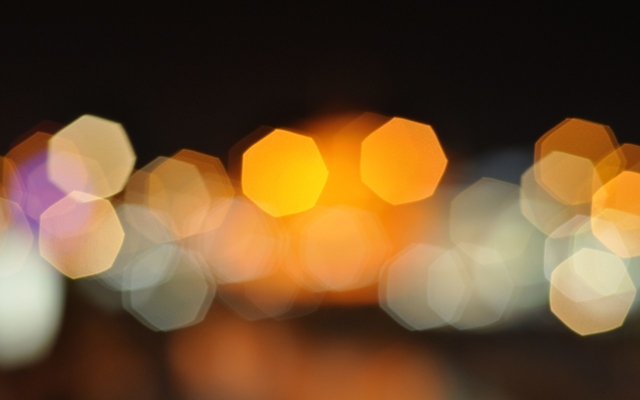 Download Blurred City Lights Hd Wallpaper For 1280 X 800