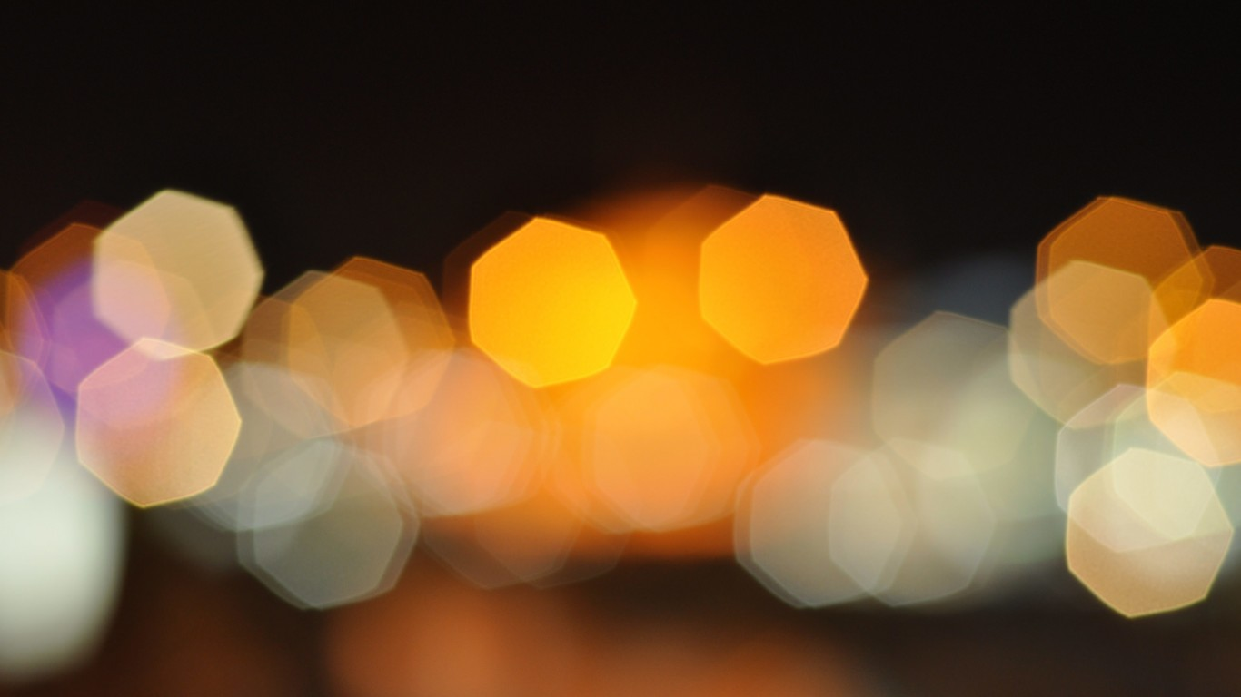 Blurred City Lights Wallpaper for Desktop 1366x768
