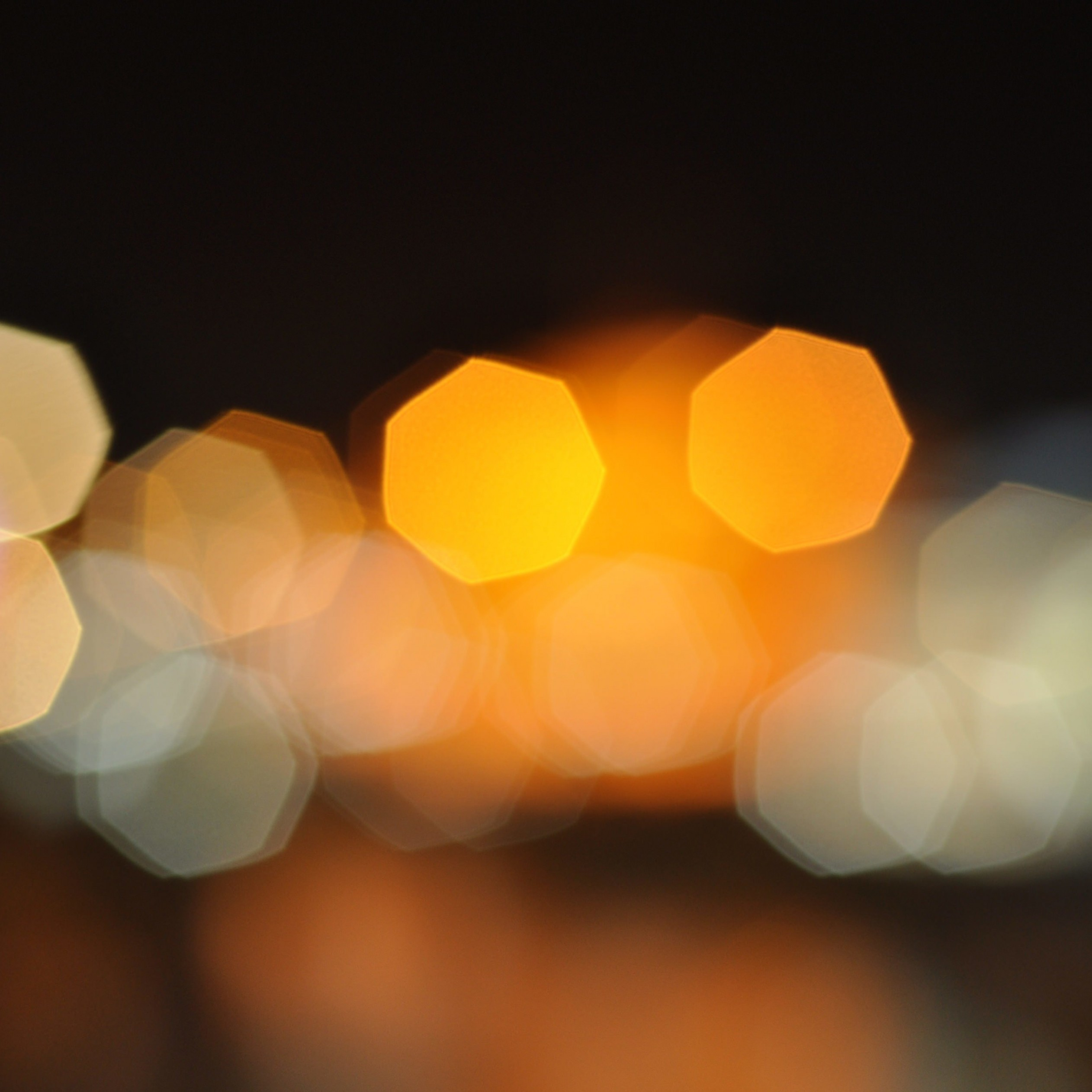 Blurred City Lights Wallpaper for Apple iPad 4