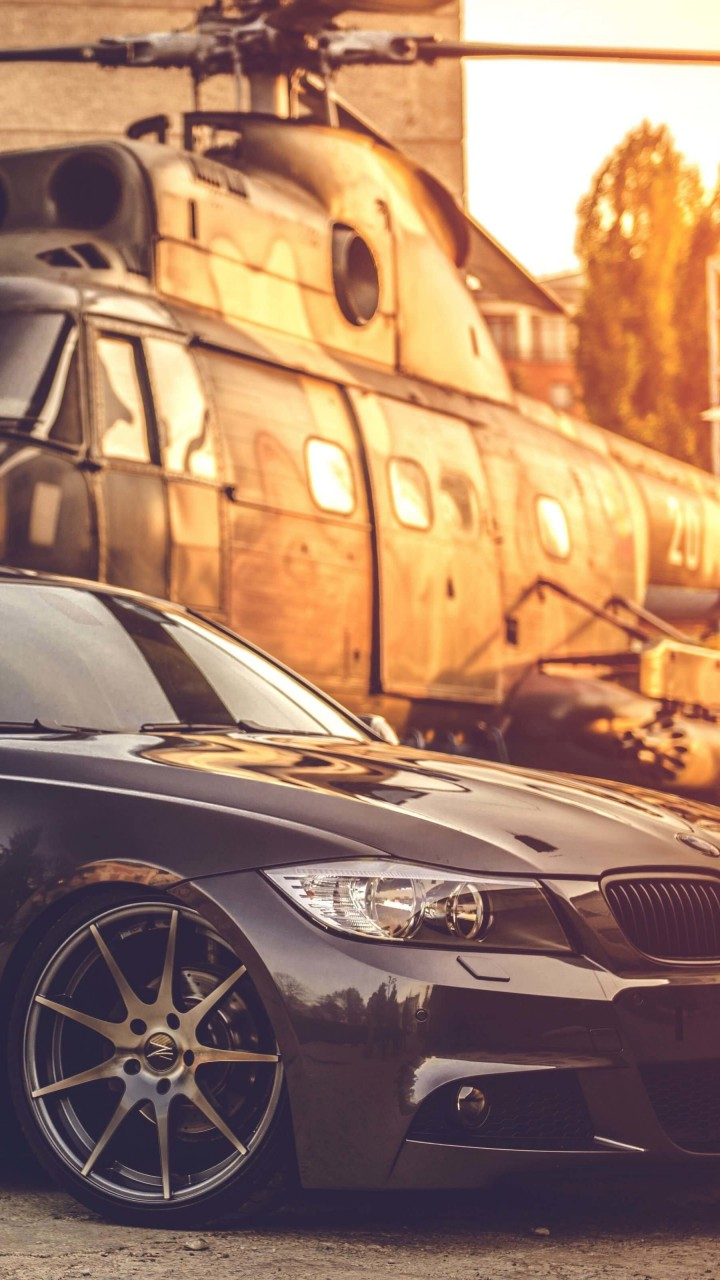 BMW E90 on Z-Performance Wheels Wallpaper for HTC One mini