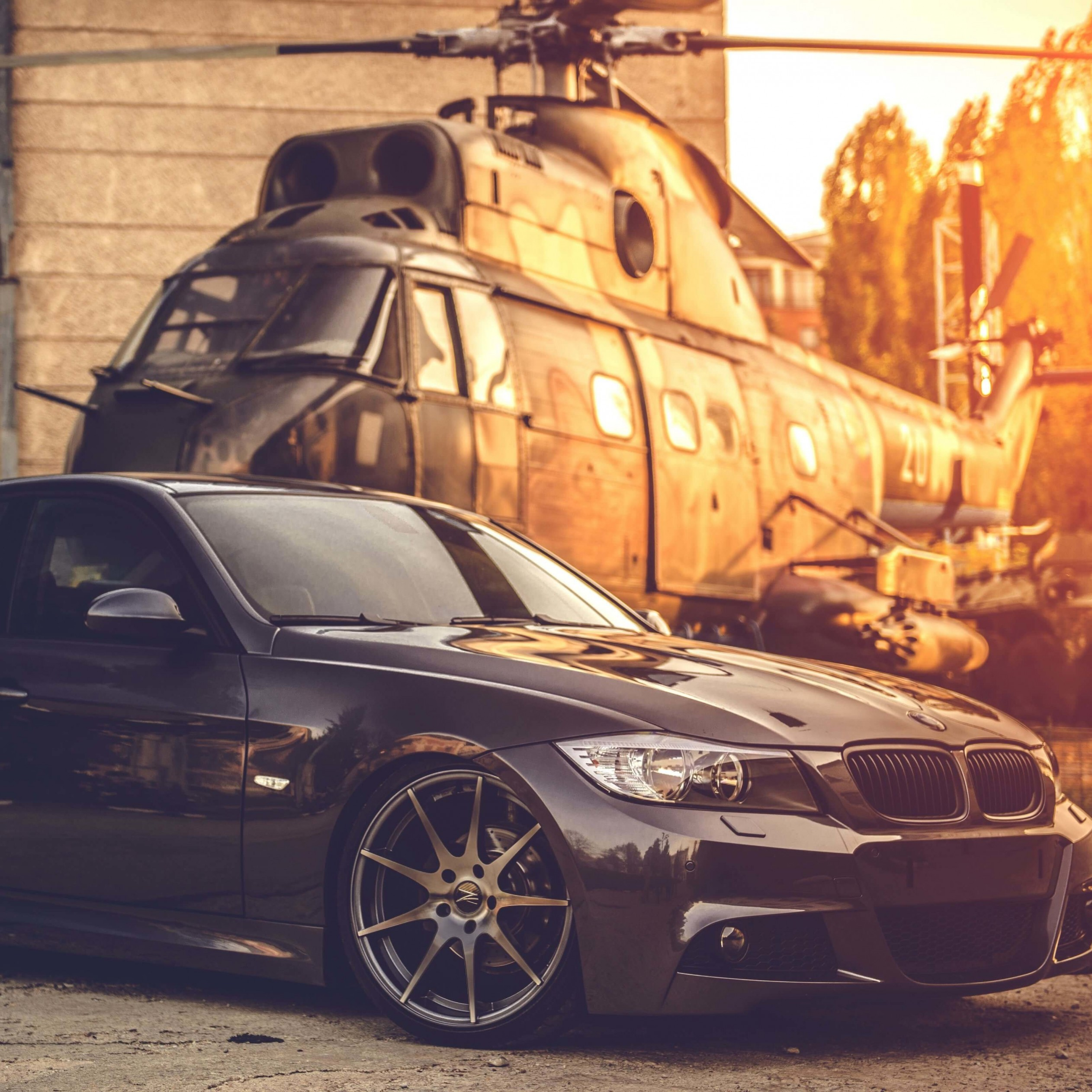 BMW E90 on Z-Performance Wheels Wallpaper for Apple iPad Air