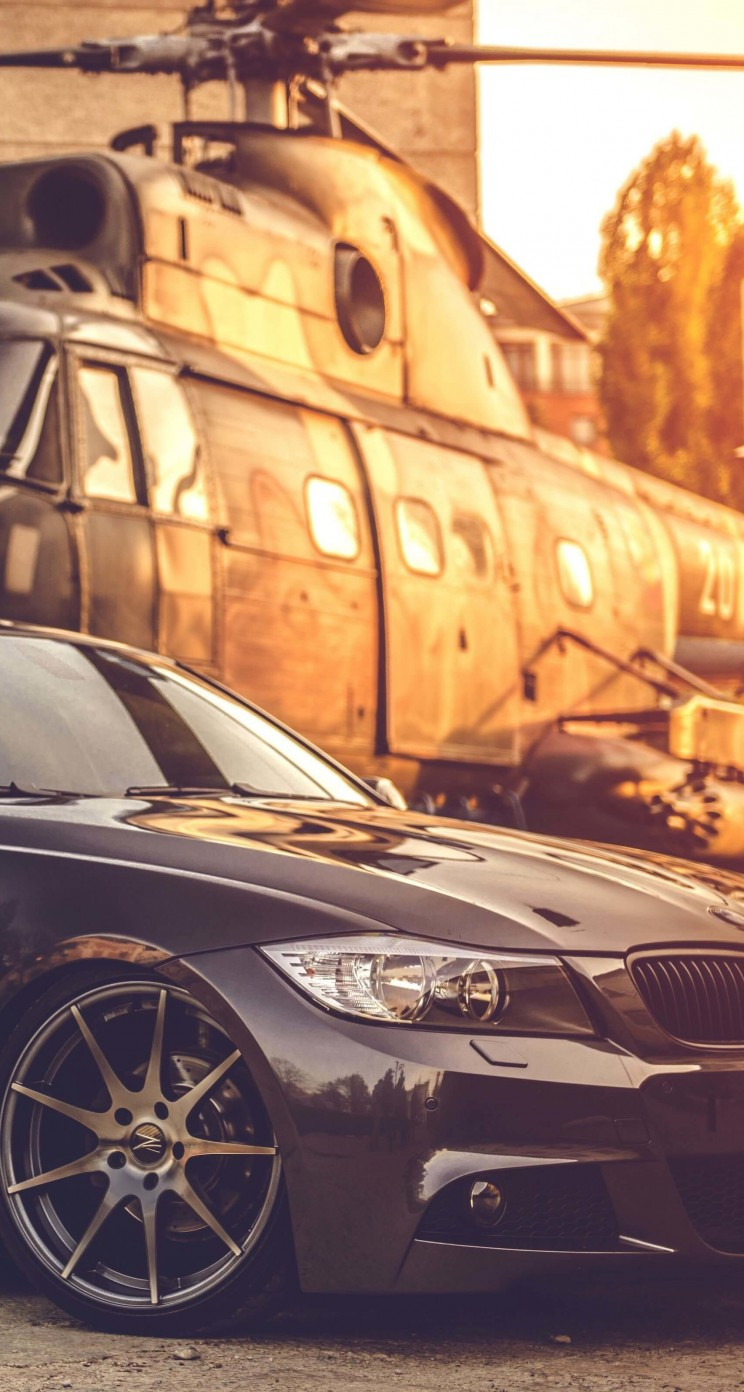 BMW E90 on Z-Performance Wheels Wallpaper for Apple iPhone 5 / 5s