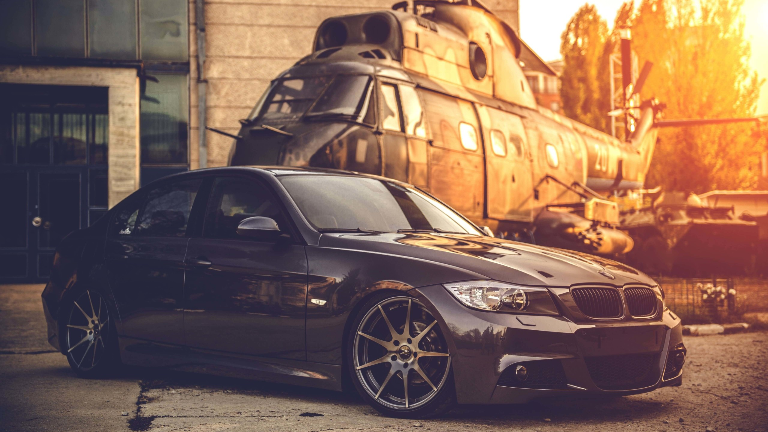 BMW E90 on Z-Performance Wheels Wallpaper for Social Media YouTube Channel Art