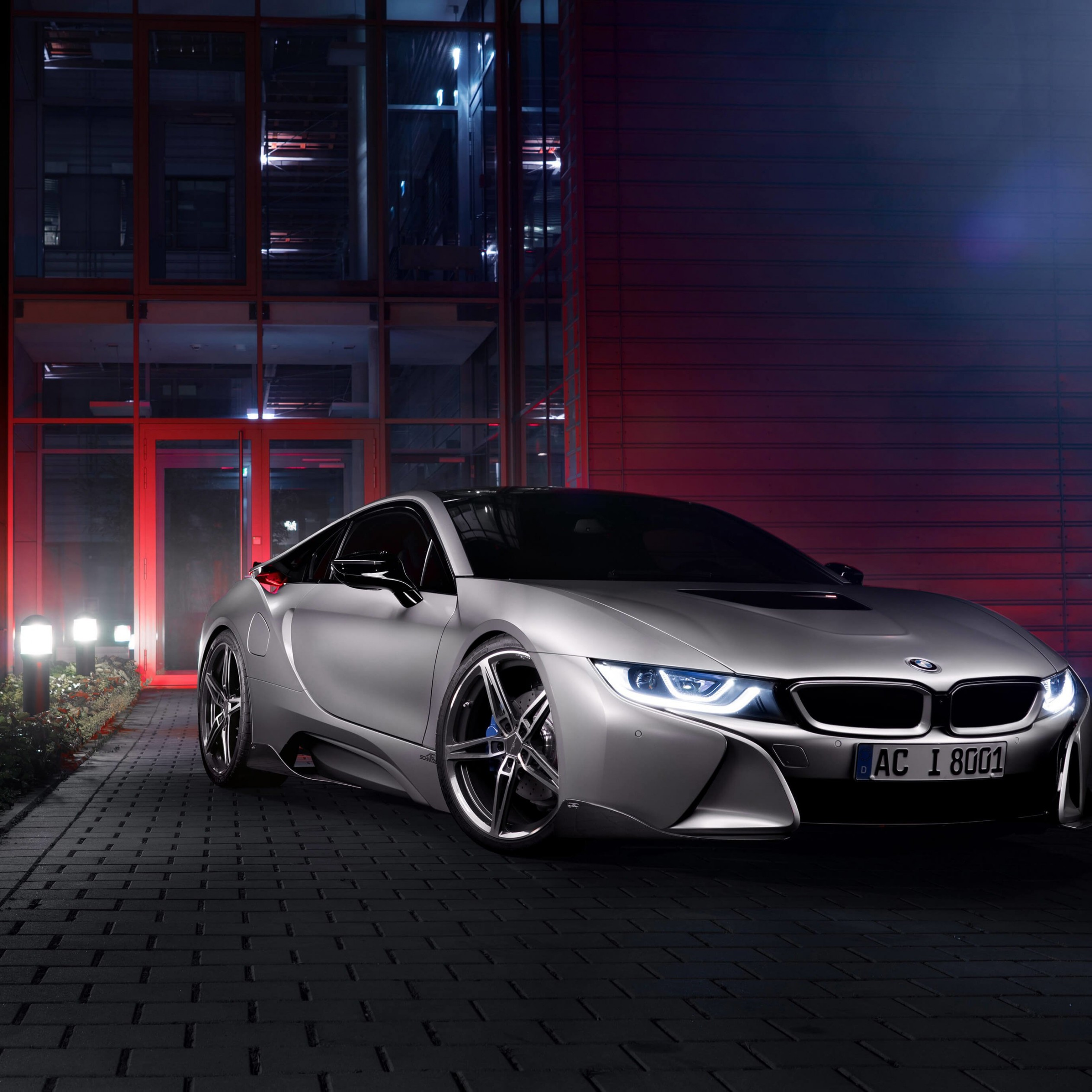 BMW i8 designed by AC Schnitzer Wallpaper for Apple iPad 4