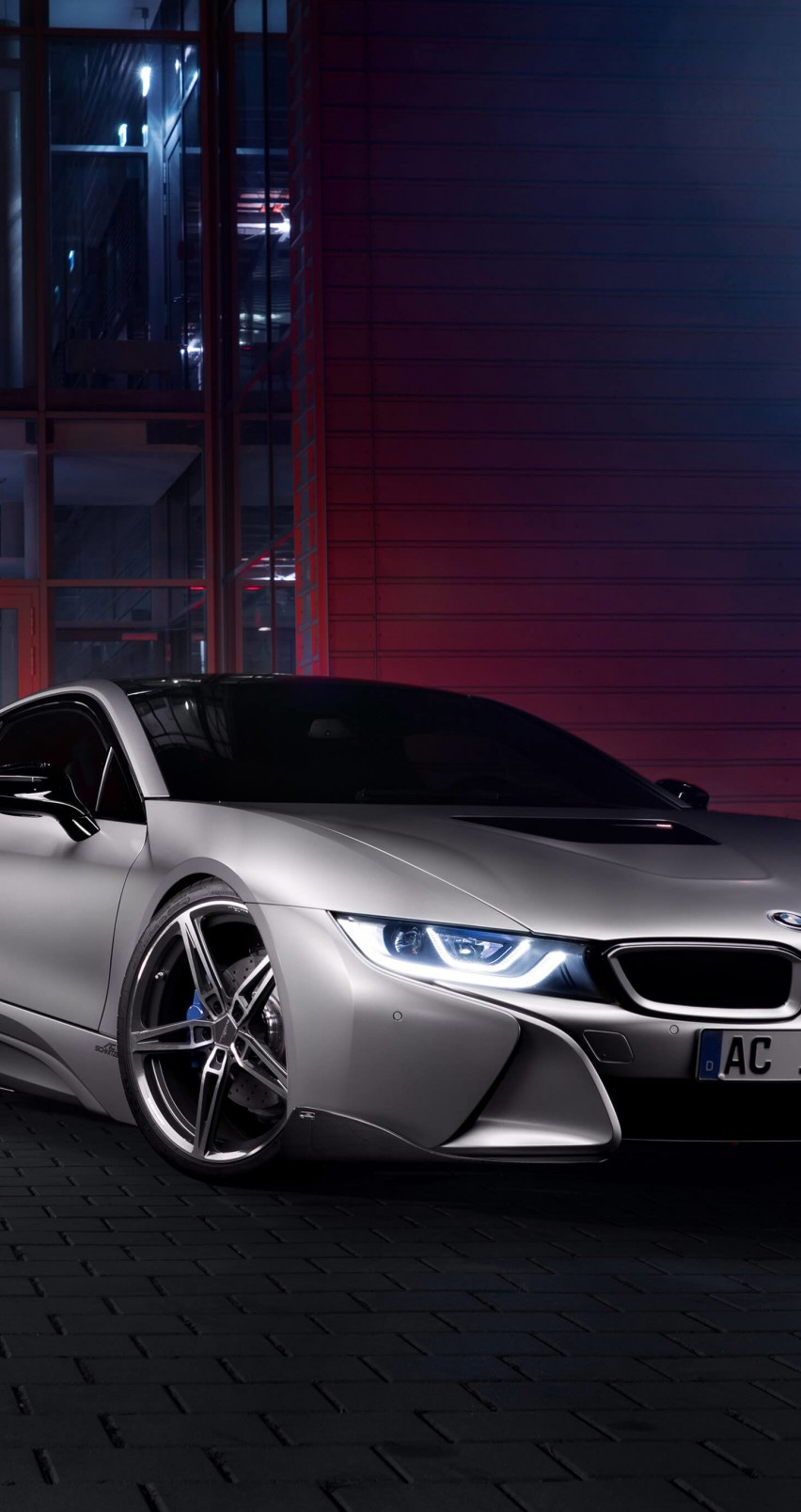 BMW i8 designed by AC Schnitzer Wallpaper for Apple iPhone 6 / 6s
