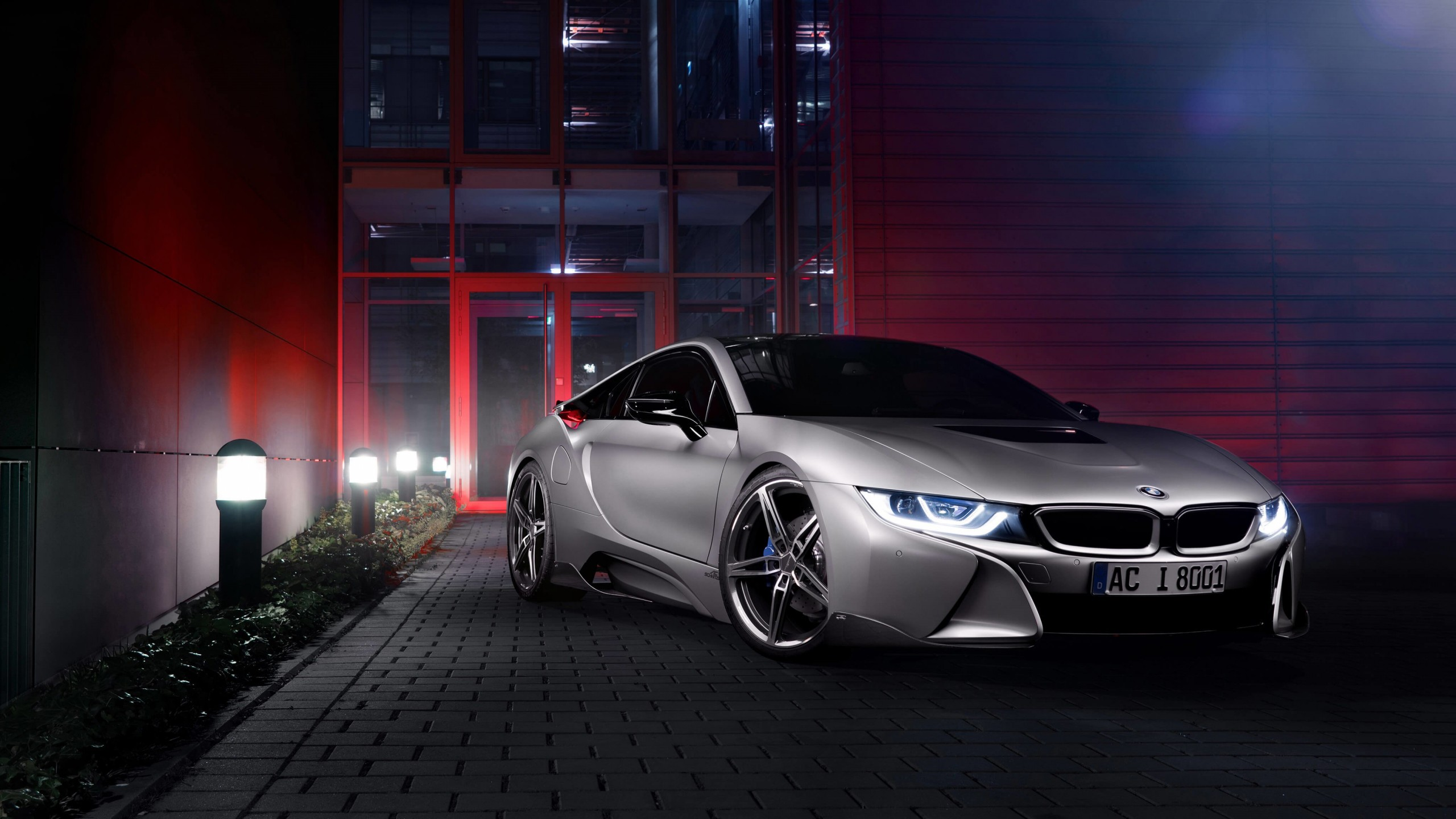 BMW i8 designed by AC Schnitzer Wallpaper for Social Media YouTube Channel Art