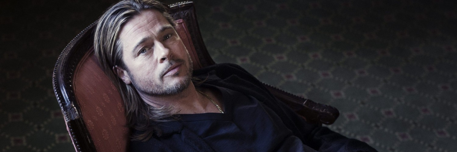 Brad Pitt Sitting On Chair Wallpaper for Social Media Twitter Header