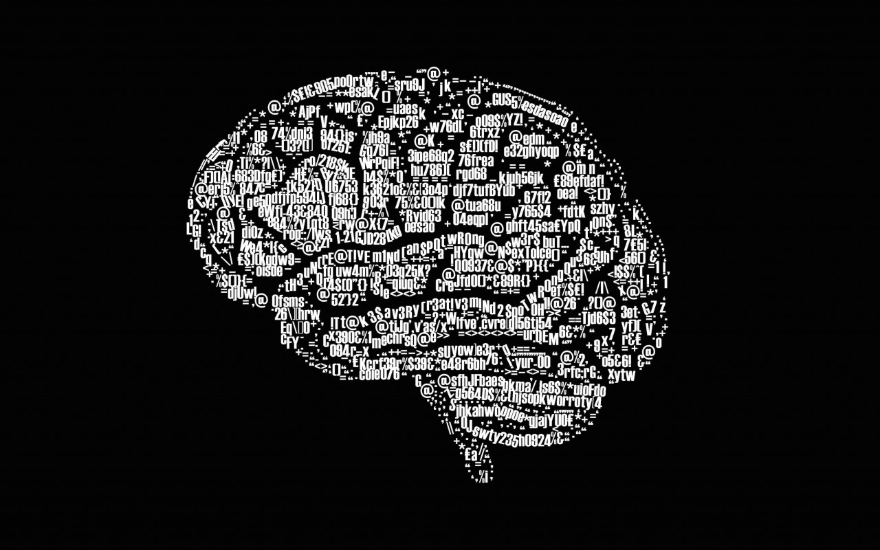 Brain Illustration Typography Wallpaper for Desktop 1280x800