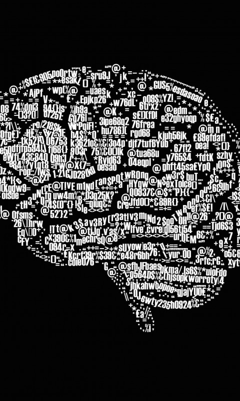 Brain Illustration Typography Wallpaper for HTC Desire HD