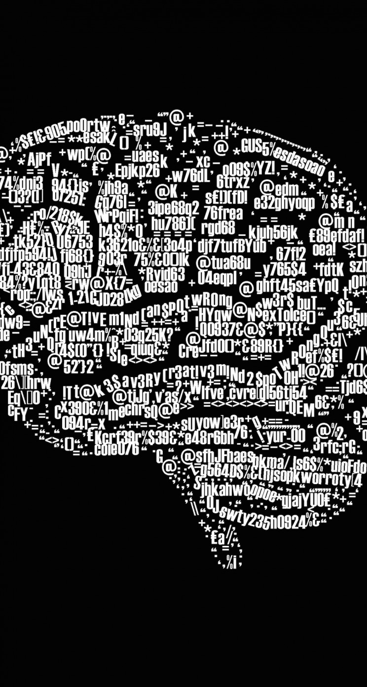 Brain Illustration Typography Wallpaper for Apple iPhone 5 / 5s