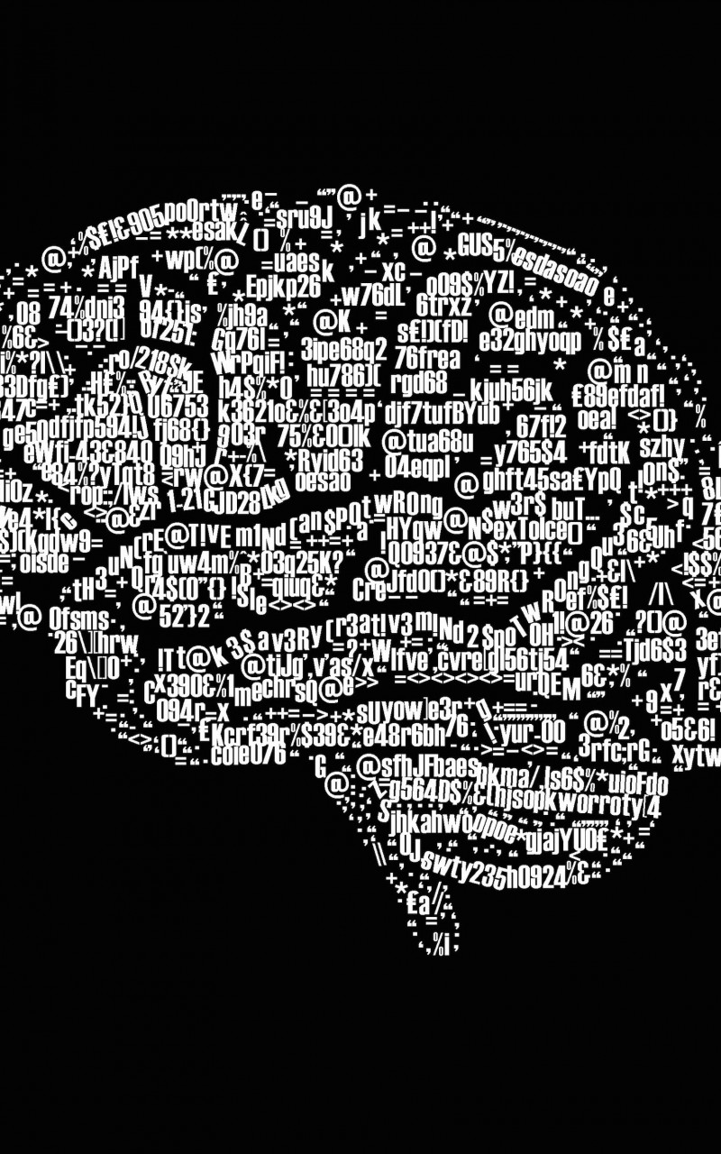Brain Illustration Typography Wallpaper for Amazon Kindle Fire HD
