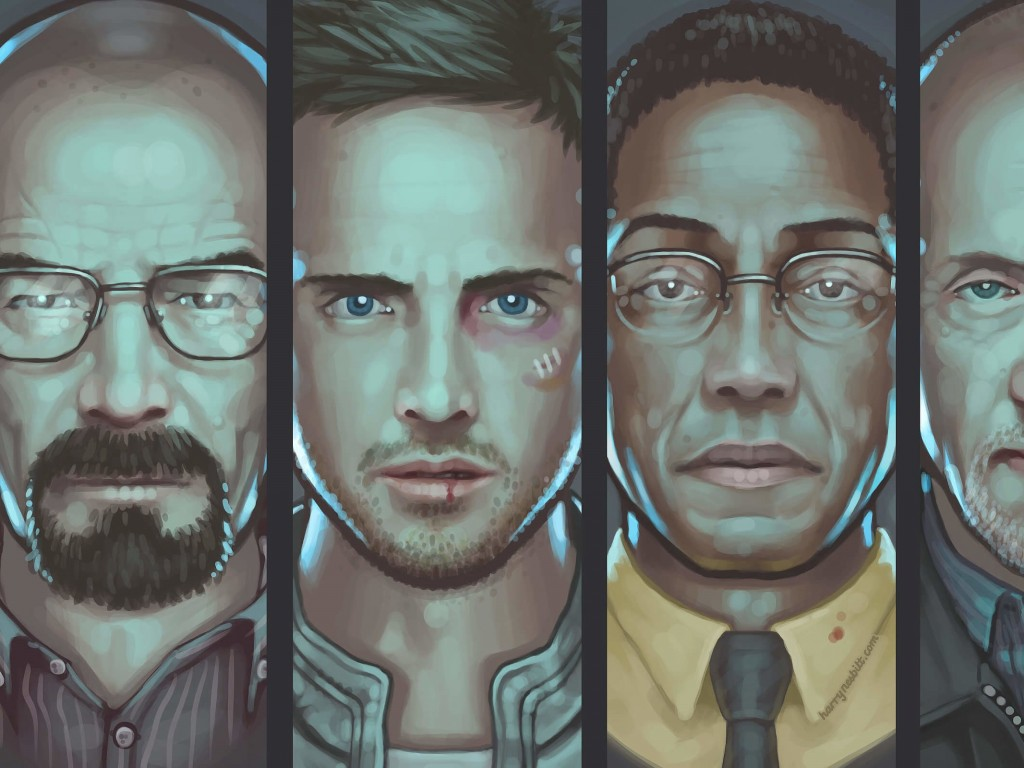 Breaking Bad Characters Wallpaper for Desktop 1024x768