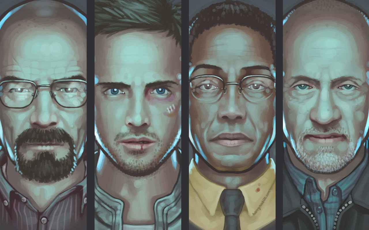 Breaking Bad Characters Wallpaper for Desktop 1280x800