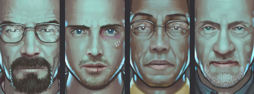 Breaking Bad Characters Wallpaper for Social Media Facebook Cover